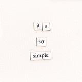 Het zo Eenvoudige ` s Stock Fotografie