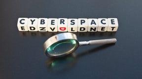 Het zoeken in Cyberspace stock afbeelding