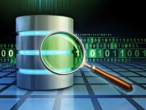 Het zoeken in een gegevensbestand stock illustratie