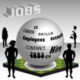Het zoeken naar een baan Stock Foto's