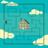 Het zoeken naar een Huis vector illustratie