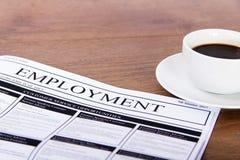 Het zoeken naar een nieuwe baan of een werkgelegenheid royalty-vrije stock fotografie