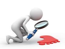 Het zoeken van aanwijzingen stock illustratie