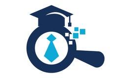 Het zoeken van baan naar nieuwe gediplomeerde stock illustratie
