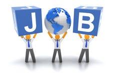 Het zoeken van banen vector illustratie