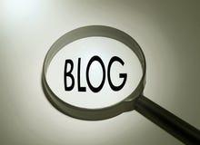 Het zoeken van blog Royalty-vrije Stock Foto's