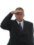 Het zoeken van de zakenman. royalty-vrije stock afbeelding