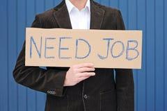 Het zoeken van een baan Royalty-vrije Stock Foto's