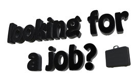 Het zoeken van een baan? Stock Foto's
