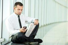 Het zoeken van een baan Stock Foto's