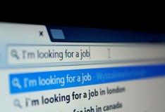 Het zoeken van een baan Royalty-vrije Stock Fotografie