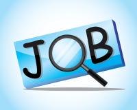 Het zoeken van een baan royalty-vrije illustratie