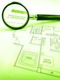 Het zoeken van het huis van de luxepenthouse Stock Afbeelding