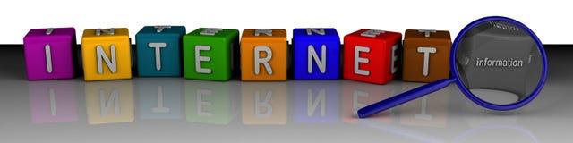 Het zoeken van informatie in Internet Royalty-vrije Stock Fotografie