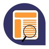 Het zoeken van pagina of browser pictogram van vastgestelde tricolor royalty-vrije stock foto