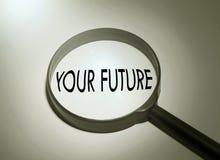 Het zoeken van uw toekomst stock foto's