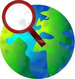 Het zoeken van wereld vector illustratie
