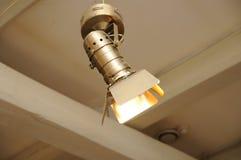 Het zoeklicht van de projector op plafond Royalty-vrije Stock Foto
