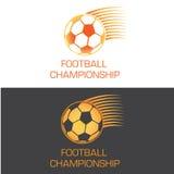 Het zoemende embleem van de voetbalbal voor kampioenschap Royalty-vrije Stock Afbeelding