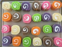 Het zoete broodje van de verscheidenheidskleur Stock Afbeeldingen