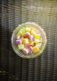 Het zoete hoogtepunt van de Suikergoedkleur Stock Afbeeldingen