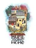Het Zoete Huis van het huis Stock Afbeeldingen