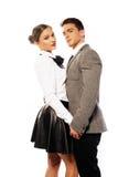 Het zoete Jonge Paar sluit zeer Portret Royalty-vrije Stock Afbeelding
