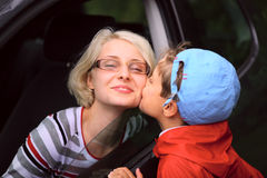 Het zoete kussen Royalty-vrije Stock Foto