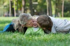 Het zoete parenting Royalty-vrije Stock Afbeeldingen