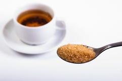 Het zoeten van thee Stock Foto