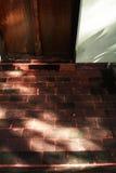 Het zonlicht op de tempelvloer Stock Afbeelding
