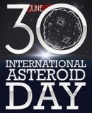 Het zonlicht in Planeet en de Asteroïde trekken om Stervormige Dag, Vectorillustratie te vieren royalty-vrije illustratie