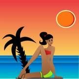 Het zonnebaden Stock Foto's