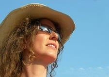 Het zonnebaden in de zon Stock Foto's