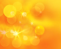 Het zonnige glanzen schitterde bokeh - abstarct achtergrond Stock Afbeelding