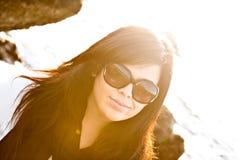 Het zonnige Meisje van de Dag Royalty-vrije Stock Afbeelding