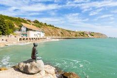 Het zonnige Strand van het Zand Royalty-vrije Stock Afbeelding