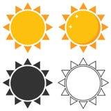 Het zonpictogram Stock Afbeelding