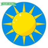 Het zonpictogram Stock Foto