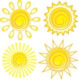 Het zonpictogram. Symbool. Stock Foto's