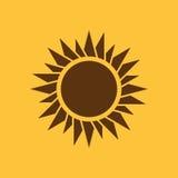 Het zonsopgangpictogram Zonsopgang en zonneschijn, weer, zonsymbool Ui web embleem teken Vlak Ontwerp app voorraad Royalty-vrije Stock Afbeeldingen