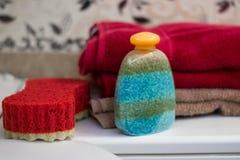 Het zout van bankwithsea van verschillende kleuren stock afbeelding