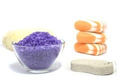 Het zout van de kleur Stock Afbeeldingen
