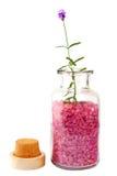 Het zout van de lavendel royalty-vrije stock foto
