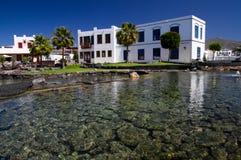 Het Zout van pleinla, Marina Rubicon, Lanzarote Stock Afbeeldingen