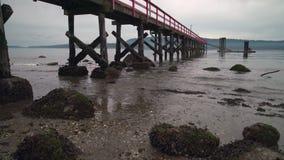 Het zoute Dok van Fernwood van het de Lenteeiland, BC, 4K UHD stock video