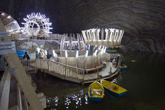 Het zoutmeer van Turda Stock Fotografie