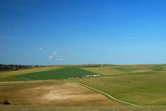 Het Zuid- van Engeland plattelandslandschap van Sussex/ stock fotografie