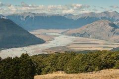 Het zuidelijke gebied van Alpen in Nieuw Zeeland royalty-vrije stock foto's
