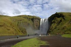 Het zuidelijke landschap van IJsland met vulkanische outwash Stock Fotografie